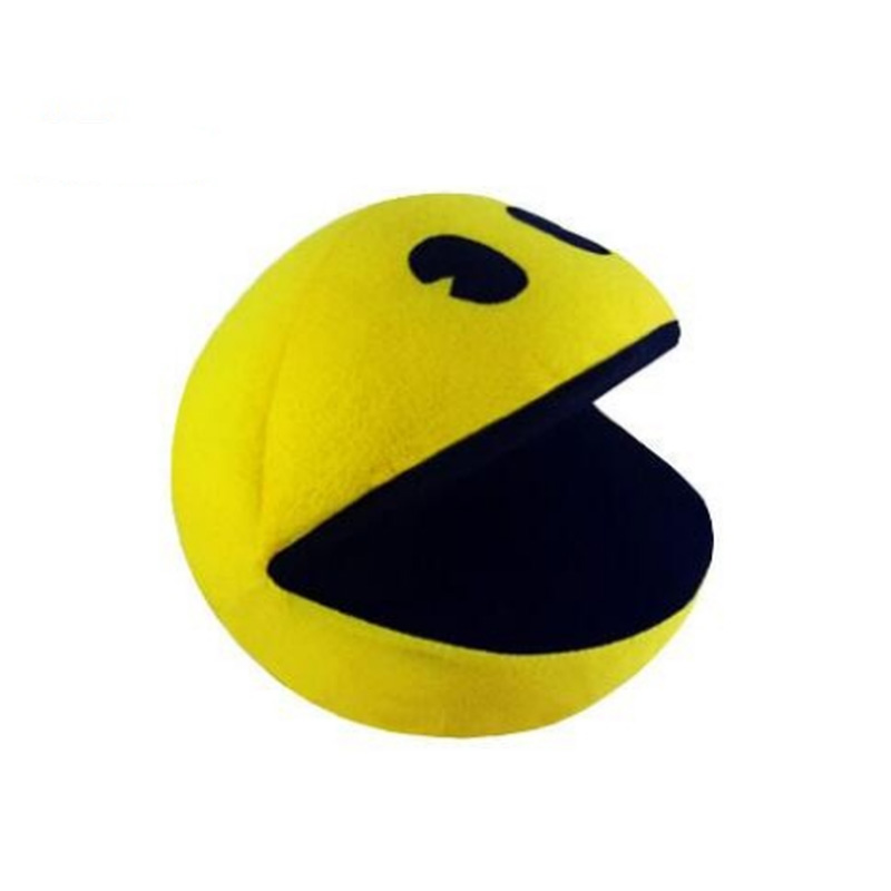 1pc 14cm Cute Plush Doll Yellow Smiling Face Expression Ball Pacman Stuffed Toy For Kids Baby Birthday Christmas Gift