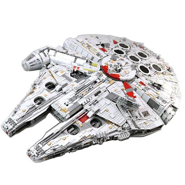 05132 Ultimate Millennium Star Wars Series Falcon Model Building Blocks Set Star Ship 75192 Toys Collectors Bricks Kids Gift 1