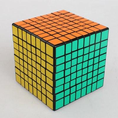 Couleur 8X8X8 Cube magique carré 8th-Order noir bas Compilation cubique enfants développement intellectuel jouets - 3