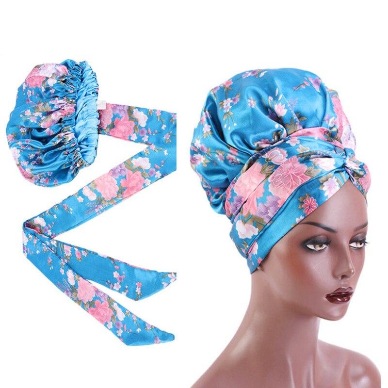 Головного убора женские атласные, аксессуары для ночного сна, цветные головные уборы, шелковая накидка на голову, аксессуары