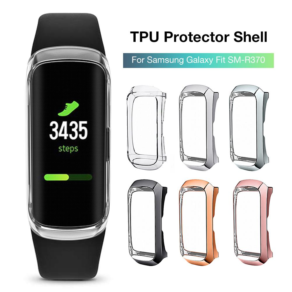 Rondaful 360 Degree TPU Protector Case Cover Shell For Samsung Galaxy Fit SM-R370 Smart Bracelet Protective Shell 2019 Newest