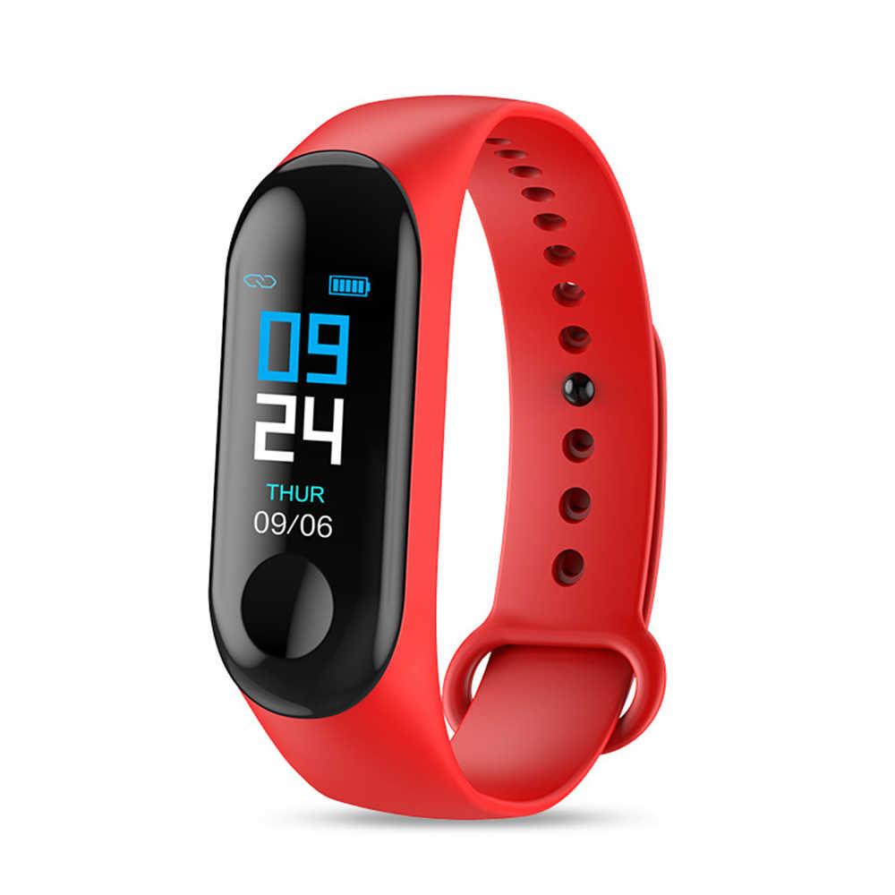 M3 Smart Uhr Gesundheit Fitness tracker Armband Farbe Heart rate blutdruck Leben wasserdicht smartband pk mi band 2 3