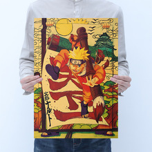 Room decoration Naruto Naruto anime retro kraft poster bar cafe bedroom decoration painting wall sticker