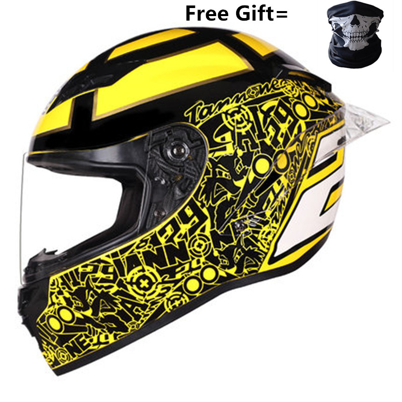 2019 New Full Face Motorcycle Helmet Motorbike Motocross Moto Helmet Crash Full Face Helmets Casco Moto Casque# DOT Approved