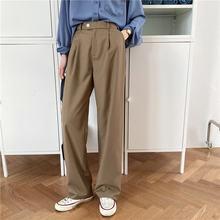 Hzirip 2020 sólido todos os jogos em linha reta cintura alta ol formal breve tamanho grande streetwear novo comprimento total chique todos os jogo retro calças