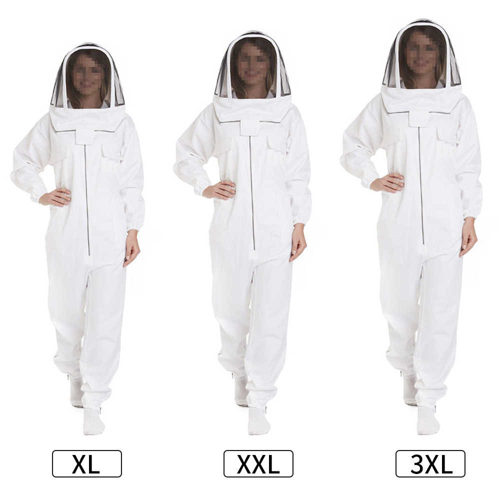 Professional Bee Suit for Women and Men Full Body Bee Keeper Outfit Beekeeping Clothing Protective with Veil Hat XXXL
