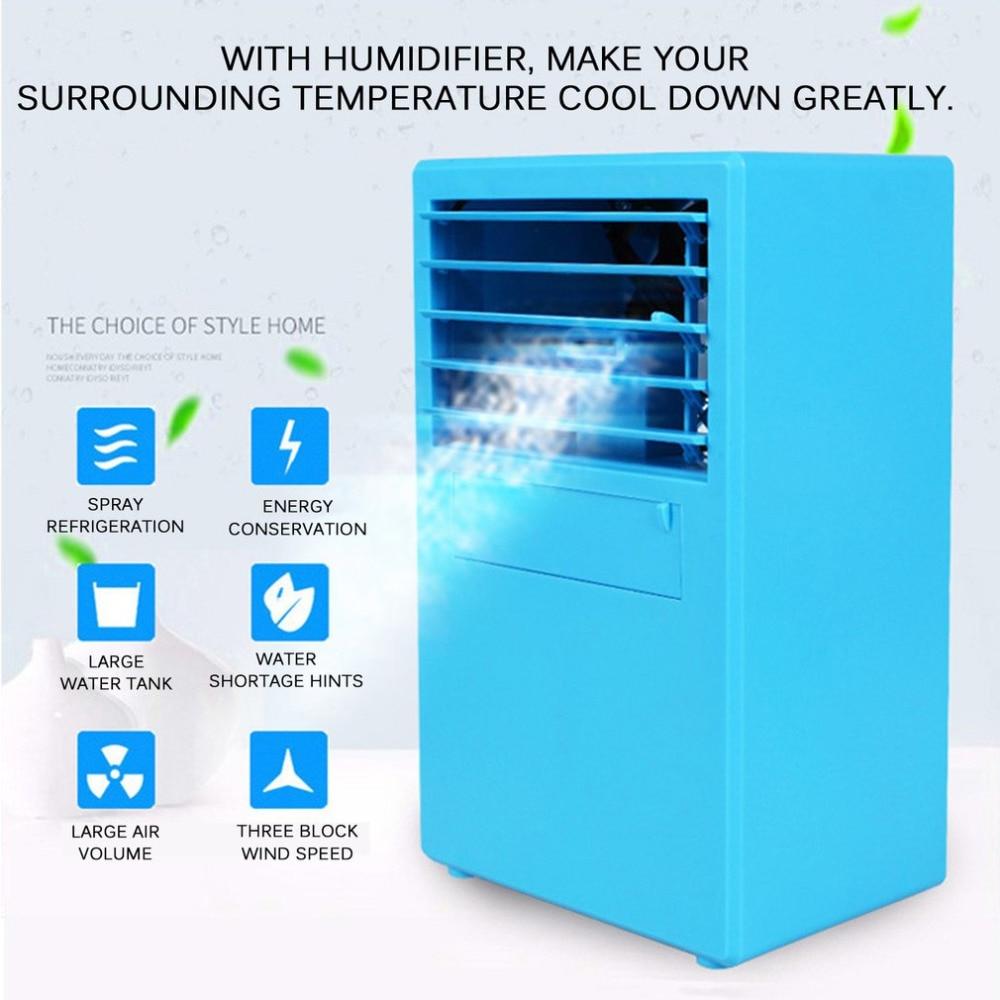Taşınabilir Mini Klima Fanı Kişisel Uzay Soğutucu Hızlı kolay Yolu Herhangi Bir Alan Ev Ofis masa fanı ile su Körükler Aletler - title=