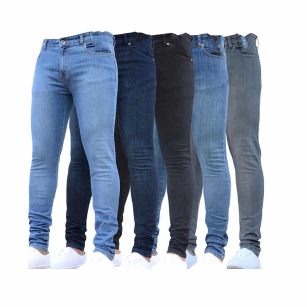 Pantalones Vaqueros Skinny Casual Slim Fit Straight Stretch Feet Zipper Pantalones Para Hombre De Talla Grande Pantalones Lapiz Pantalones Streetwear 4xl Pantalones Vaqueros Aliexpress