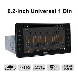 """Image 3 - Radość 6.2 """"Radio pantalla 1 din uniwersalny Android 10 Autoradio Audio 4GB + 64GB Multimedia Carplay magnetofon wyjście optyczne"""