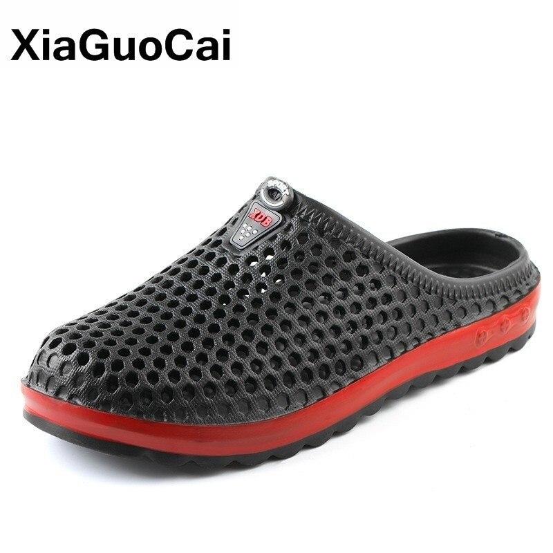 Men Slippers 2020 Summer Clogs Unisex Beach Slipper Lightweight EVA Couple Flip Flops Quick Dry Garden Shoes Lovers Pool Sandals