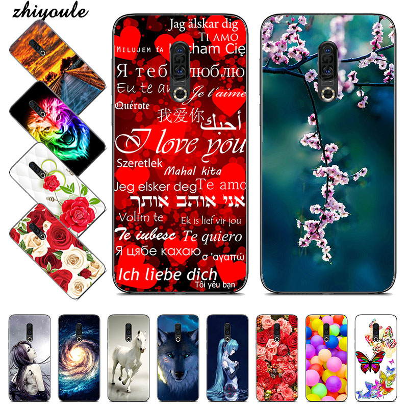 Silicone Printed phone Case for <font><b>Meizu</b></font> <font><b>16</b></font> Plus cases soft TPU Phone Back cover full <font><b>360</b></font> Protective shell new design bag image