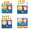 Монтессори математическая игрушка, Обучающие приспособления, ручная форма, интеллект, детский сад, сделай сам, ткань, Развивающие Игрушки д...