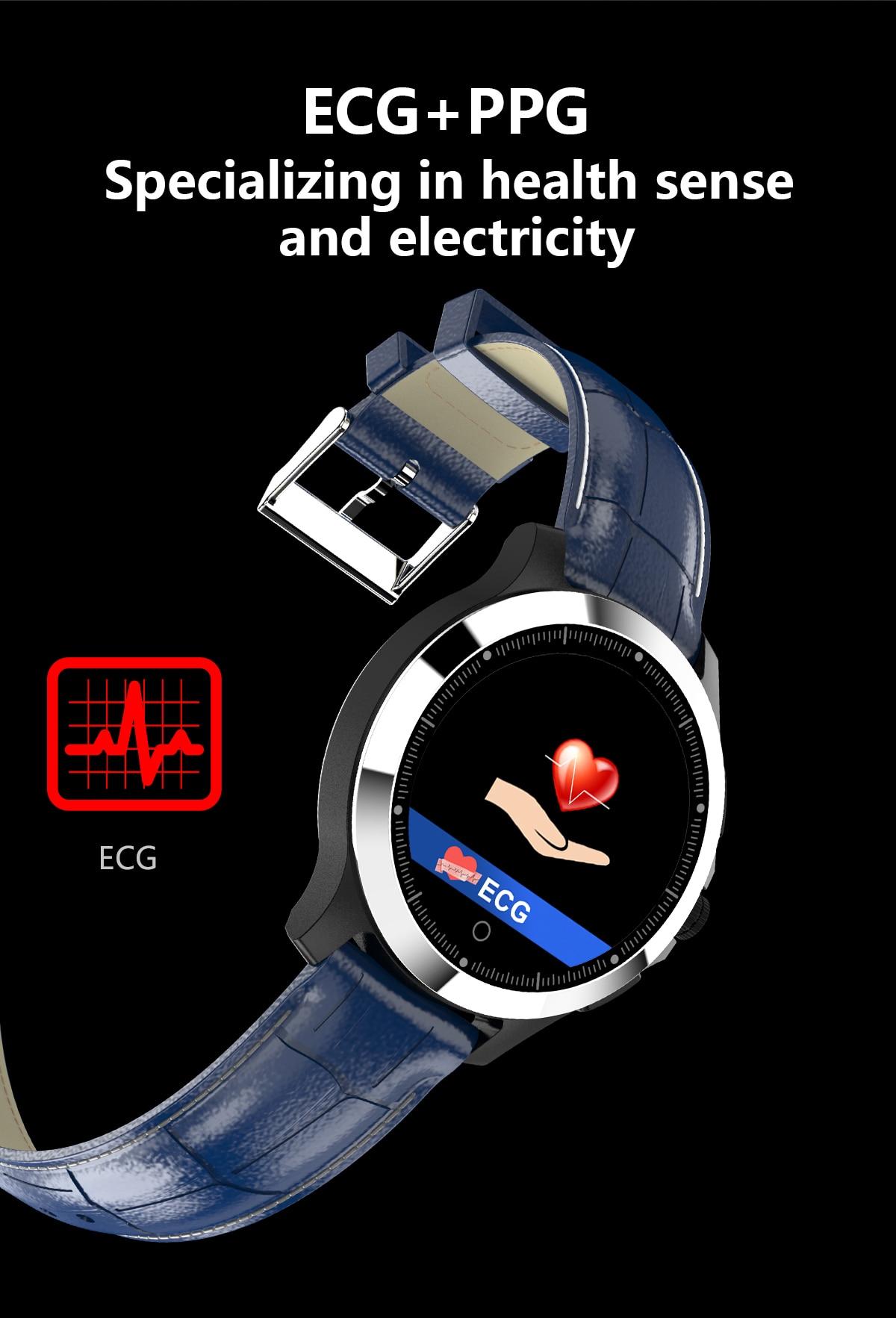 wearable passometer aço pulseira de relógio couro