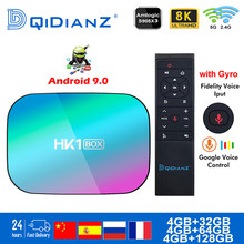 Caixa de tv inteligente hk1box android 9.0 1000m amlogic s905x3 8k duplo wifi bt conjunto rápido superior caixa hk1 x3 pk hk1max h96 a95x