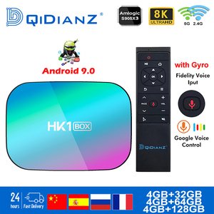 Smart TV BOX hk1box Android 9.0 1000M Amlogic S905X3 8K Dual Wifi BT Netflix Fast Set top BOX hk1 x3 PK HK1MAX H96 a95x