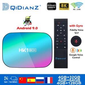 Smart TV BOX hk1box Android 9.0 1000M Amlogic S905X3 8K Dual Wifi BT Netflix Fast Set top BOX hk1 x3 PK HK1MAX H96 a95x