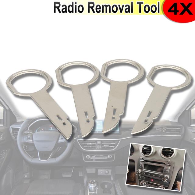 2 Pair Radio CD Stereo Removal Key ściągacz do Ford Focus Mondeo c-max Fiesta Transit narzędzia do instalacji ekstrakcji samochodu tanie i dobre opinie CN (pochodzenie) Metal 0 013 Stereo Removal Tools