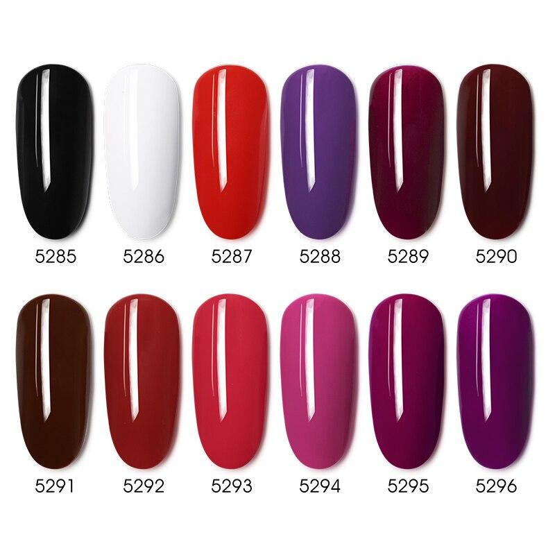 Купить ibdgel 12 шт полный цвет лак для ногтей геллак один чехол насыщенный