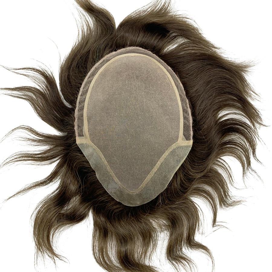 Custom Made Hair Prosthesis Hair Unit For Men Toupee