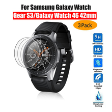 New Tempered Glass Screen Protector For Samsung Galaxy Watch 46MM 42MM Protective Glass Film for Galaxy Watch Watch Band Gear S3 cheap iBuying Scratch Proof For Samsung Galaxy Watch 46mm 42mm Gear S3 For Samsung Gear S3 Tempered Protective Glass Film for Samsung Galaxy Watch 46mm 42mm