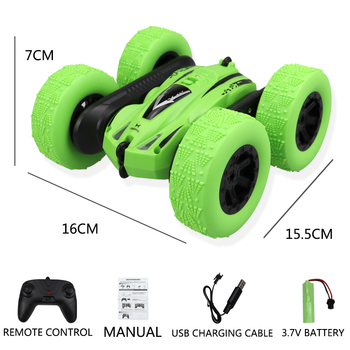 1:24 RC Cars For Childern Boys 2.4Ghz Remote Control 4WD Double Side Stunt Tipper Car 15KM/h 360 Degree Reversal Car Rc Toy 1