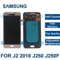 100% testado lcd para samsung galaxy j2 pro 2018 j250 j250f j250h display touch screen digitador assembléia com ajustar o brilho
