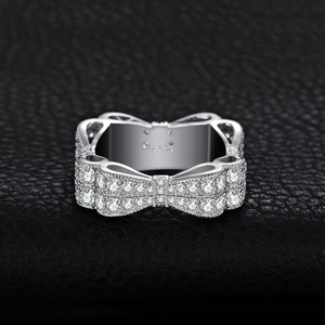Image 2 - JewelryPalace CZ 결혼 반지 여성을위한 925 스털링 실버 반지 Stackable Anniversary Ring Eternity Band Silver 925 Jewelry