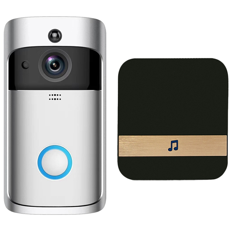 AMS-Smart Wifi Security Door With Visual Recording Low Power Remote Home Monitoring Night Can Also Be Video Door Phone Us Plug