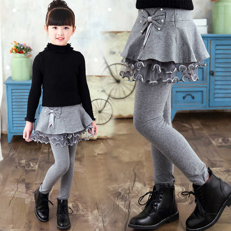 Children Winter Warm Toddler Skirt Lengins Girl Thick For Infant Girls Star Legins Kids Toddler Children Girl Solid Cute Legging