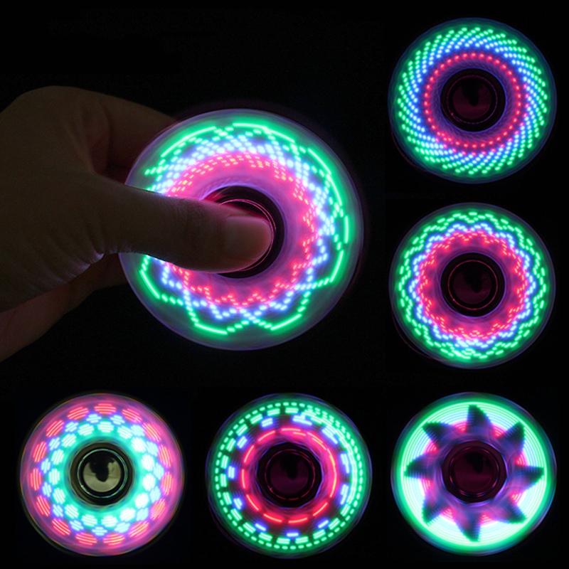 6colors Creative LED Light Luminous Fidget Spinner Changes Hand Spinner Golw in the Dark Stress Relief Toys For Kids(China)