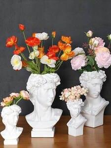 Resin Vase Sculpture Pen-Holder Storage-Box Decoration-Head Makeup-Brush Wedding European-Style