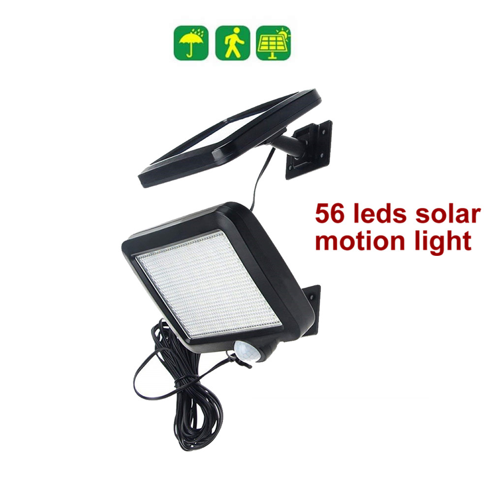 56 leds lumière solaire panneau divisé ampoules lampe à LED lumière constante 4 heures pour mur patio lanterne sécurité clôture de pont d'urgence-in Lampes solaires LED from Lampes et éclairages on GFS Solar light Store