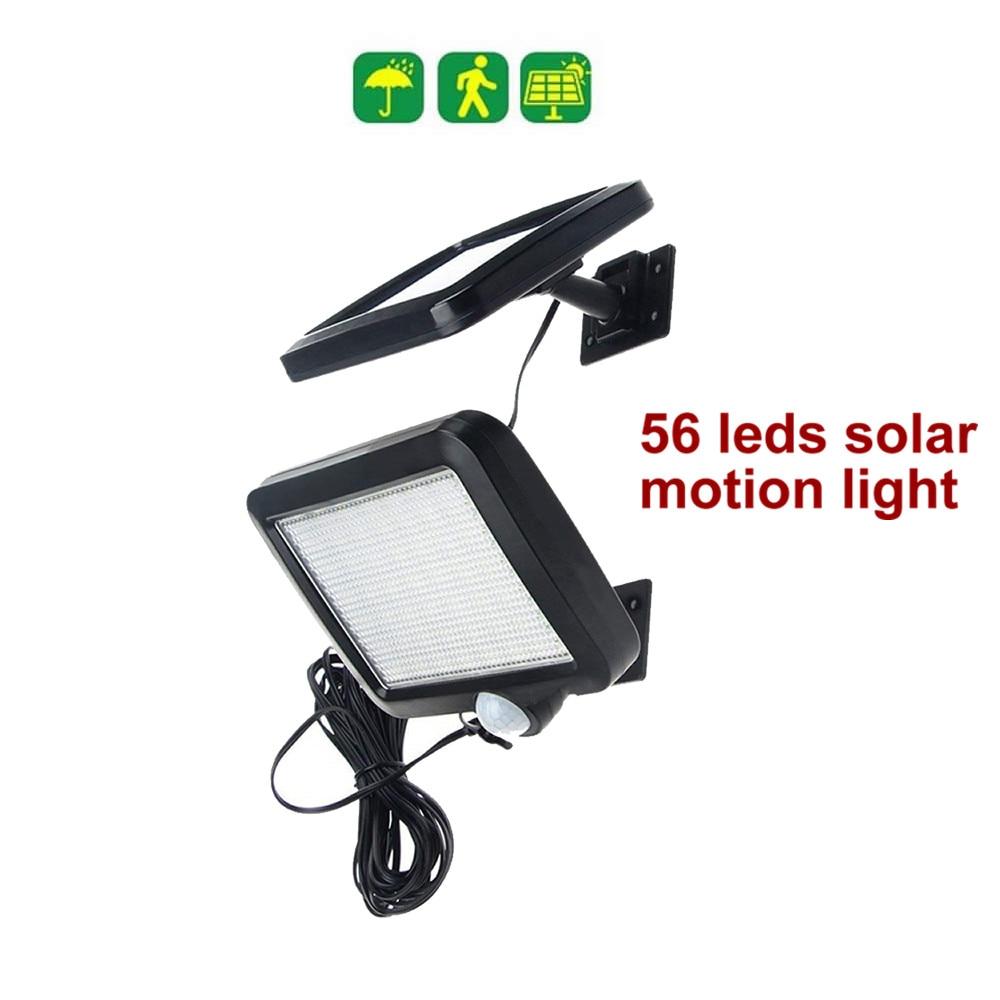 56 Leds Solar Light Split Panel Bulb Strips Led Lamp Constant Light 4 Hours For Wall Patio Lantern Security Emergency Deck Fence