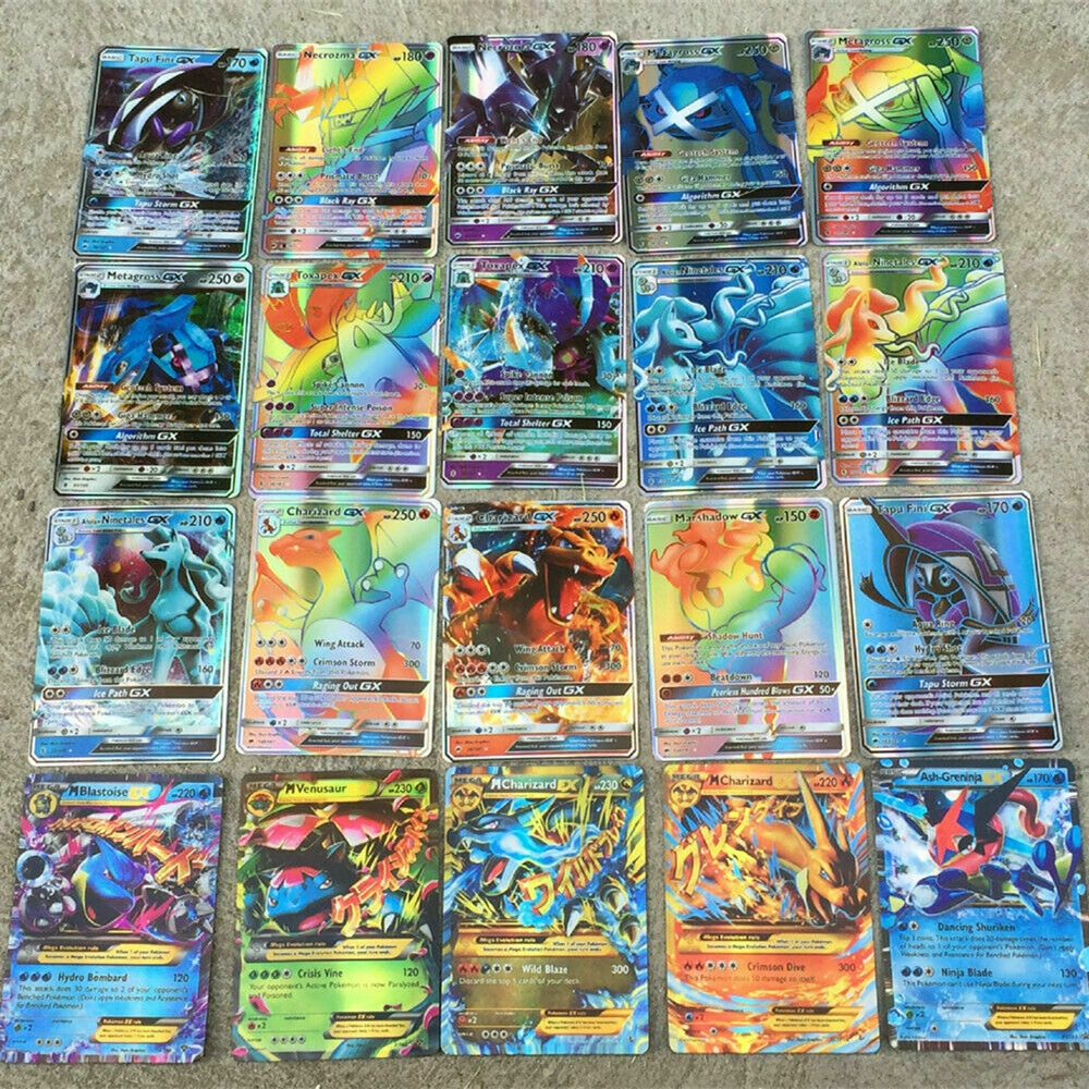 New Cards 300pcs GX Ultra Beast Trading Cards Flash Shining Cards Gifts For Kids Toys Collection Rare