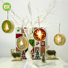 Christmas Tree Decorative Tag Ornaments Decorations for Home Cute Cartoon Antlers Cloth Headband Hair Accessories 2020 New Year