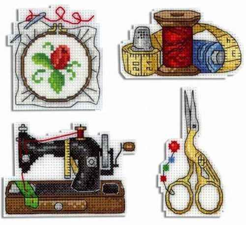 BXT05 Decoration Home Decor Homfun Craft Christmas Cross Stich Set Counted DIY Cross Stitch Kits Fridge Refridgerator Magnets