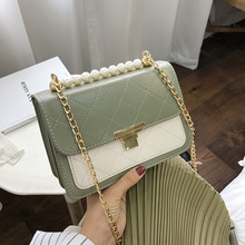 2019 Casual Flap Green PU Leather Chain Design Crossbody Bags Women Small Handbag Ladies Designer Evening