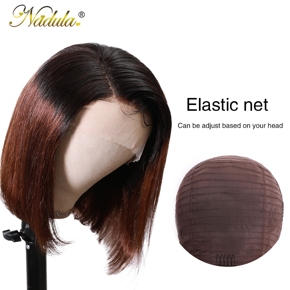 Nadula Wig T1B27 & 1B/4 Ombre Short Lace Front Wig 13*4 Straight  Bob Wig Pre Plucked Short Wigs for Black Women 5