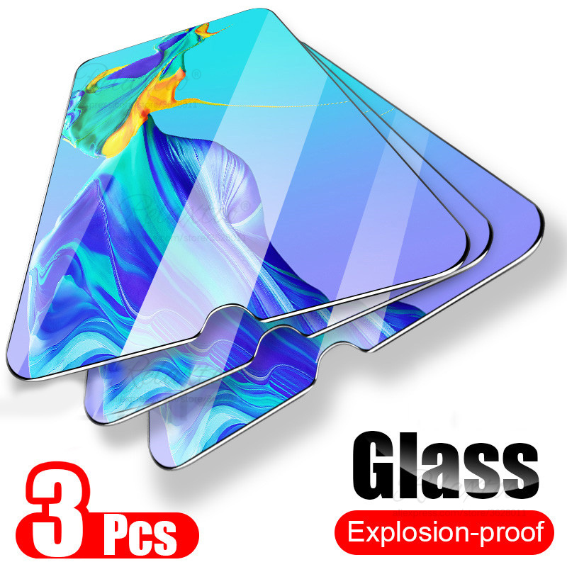 3PCS 9H Tempered Glass For Huawei P30 P20 Pro Mate 20 Lite On The Screen Protector P 30 P30lite P20lite Protective Display Film