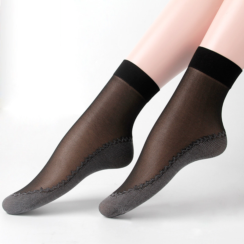 Calcetines SOCKS Women Skarpetki Damskie Elastic Anti-slip Resistant In Tube Socks Bottom Cotton Silk 2020 Spring Summer