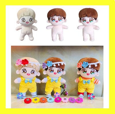 Korea Kawaii Chanyeol Plush Dolls Plush Toy Stuffed Doll Handmade PP Cotton Plush Dolls With No Clothes Cartoon Toys Fans Gift