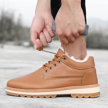 Men Winter Boots Shoes 2019 High Quality High Top Comfortable Casual Shoes for Men Fashion Boots Botas Hombre Shoes Men
