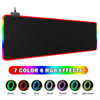 Large Gaming Mouse Pad RGB USB LED Glowing Gamer Keyboard Mousepad Mice Mat 14 Lighting Modes For PC Computer Laptop