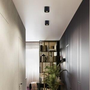 Image 5 - [DBF] kwadratowe COB LED z możliwością przyciemniania Downlights 10W 12W 20W 24W montowane na powierzchni lampy sufitowe LED światło punktowe LED oprawy AC85V 265V