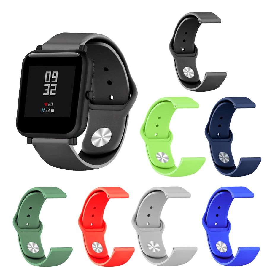 Smart Silicone Soft Strap For Xiaomi Huami Amazfit Bip BIT Lite Youth Wrist Watch Bracelet Amazfit Bip Watchband For 20mm Strap