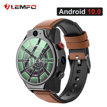 LEMFO LEM14 inteligentny zegarek 4G 5ATM wodoodporny Android 10 Helio P22 układu 4G 64GB LTE 4G SIM 1100mAh Face ID 2021 podwójny aparat dla mężczyzn