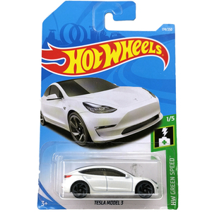 Image 1 - Hot Wheels 1:64 Car TESLA MODEL 3  S  X  Collector Edition Metal Diecast Model Cars Kids Toys Gift