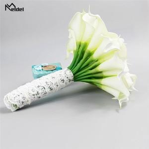 Image 4 - Meldel חתונה זר כלה לילי פרחים מלאכותיים כלה זרי השושבינות הכלה נישואי חתונה זר עיצוב הבית