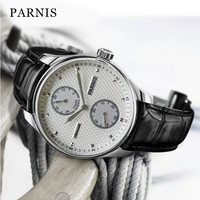 Fashion 43mm Parnis Automatic Men's Watch Power Reserve Mechanical Classic Men Diver Watches Top Brand Luxury Man Clock 2019