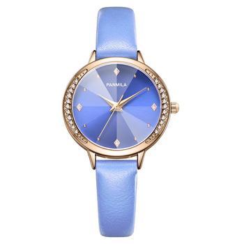Zegarki damskie luksusowy kryształ zegarki kwarcowe damskie proste wodoodporne skórzane zegarki damskie elegancki zegarek na rękę kobiety Relogio tanie i dobre opinie ddiezn QUARTZ Klamra STAINLESS STEEL 3Bar Moda casual 12mm ROUND Odporny na wstrząsy Odporne na wodę Hardlex PM0231_1